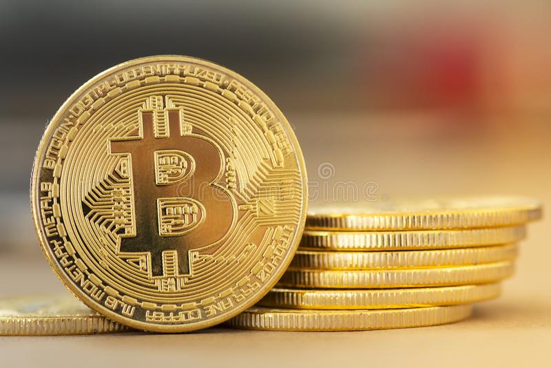 Digital-Gold Bitcoin - Archivbild stockbilder
