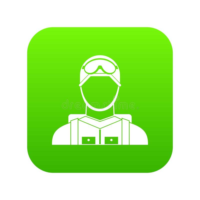 Digital gräsplan för militär fallskärmsjägaresymbol stock illustrationer