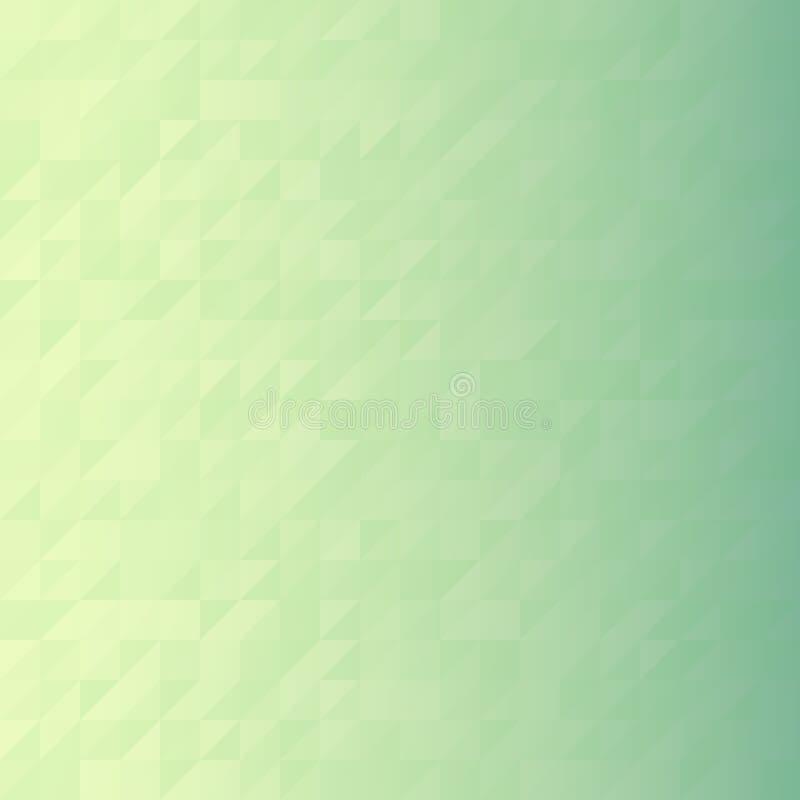 Digital green triangle pixel mosaic stock photography