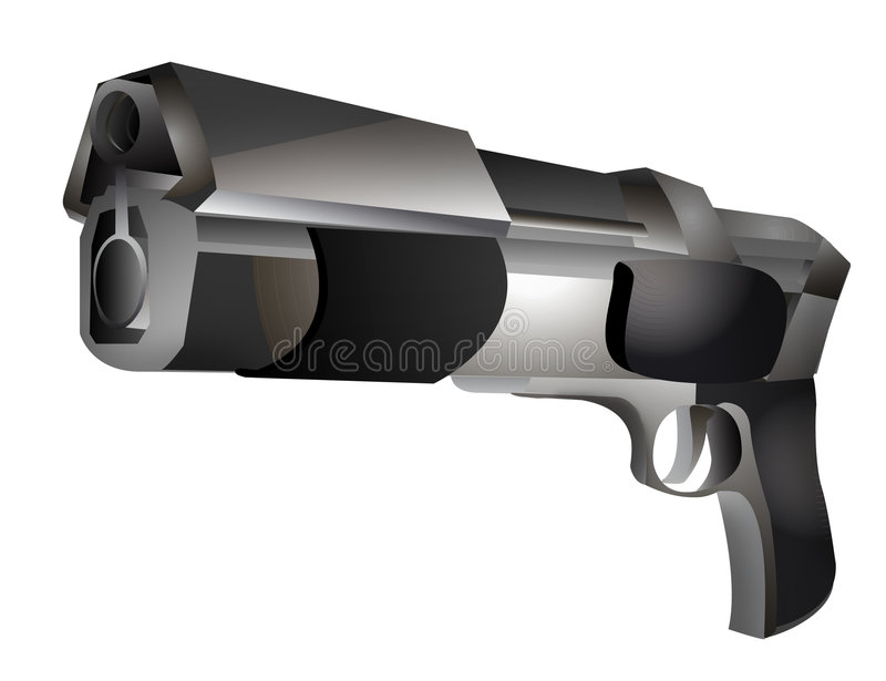 Download Digital gun stock illustration. Illustration of cartoon - 632199