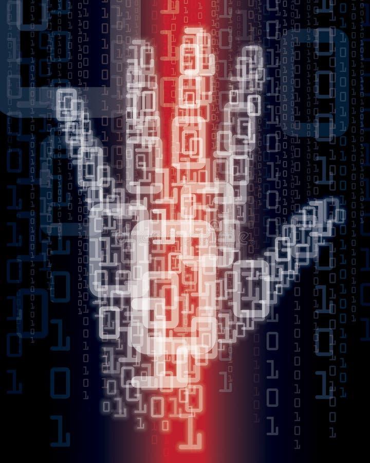 Digital-Hand vektor abbildung