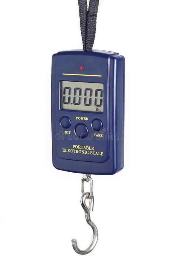 Portable digital scale stock image