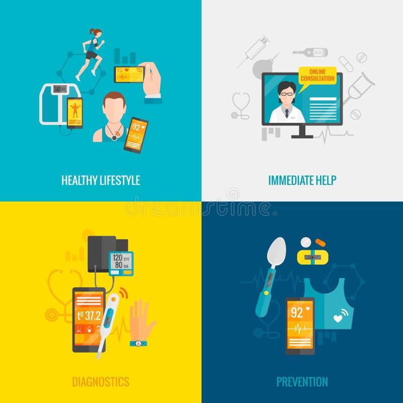 Digital Health Flat vector illustration