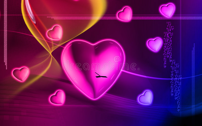 Download Digital heart background stock illustration. Image of illusion - 7404662