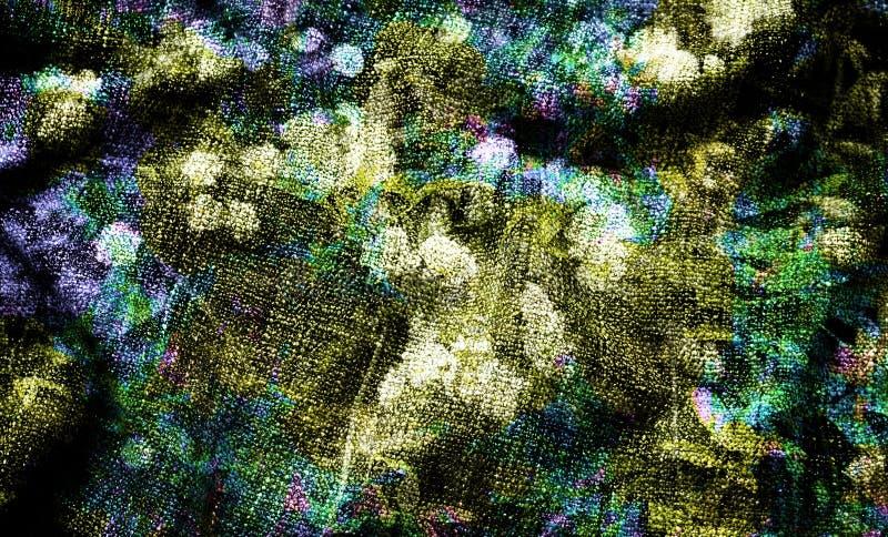 Digital-Hintergrundkunst des Blumen-/Blumenmusters lizenzfreie abbildung