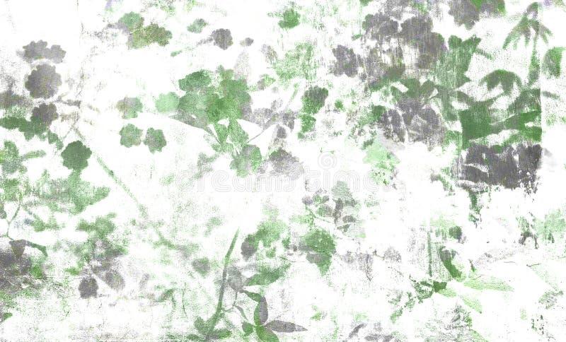 Digital-Hintergrundkunst des Blumen-/Blumenmusters stock abbildung