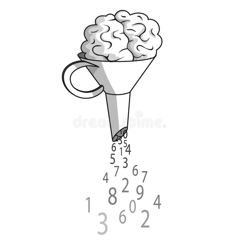 Digital hjärna stock illustrationer