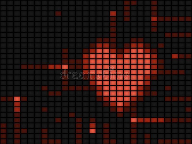 digital hjärtaillustration royaltyfri illustrationer