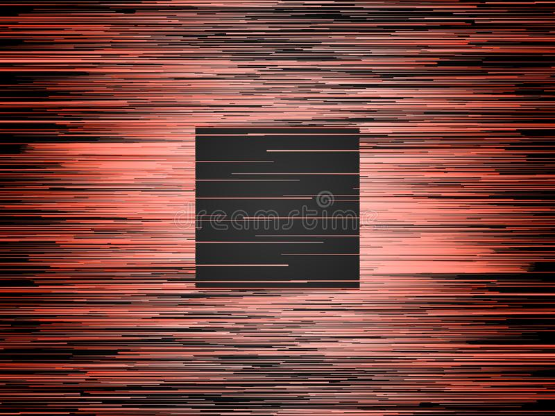 Digital horizontal orange lines abstract background. Computer generated geometric pattern. 3d rendering. Horizontal digital abstract orange colored lines stock illustration