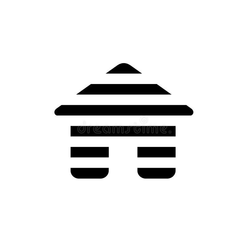 Digital hus Logo Icon, linje hem- symbol för lager, svart färgvektorillustration royaltyfri illustrationer