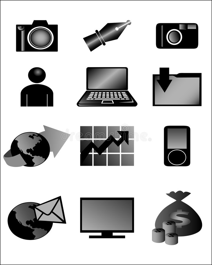 Download Digital icons stock vector. Image of global, chart, gradient - 8177135
