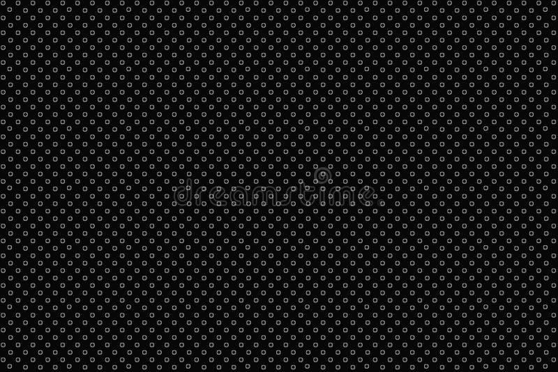 Digital idérik abstrakt texturmodell för prickar på svart bakgrund vektor f?r bild f?r designelementillustration royaltyfri bild