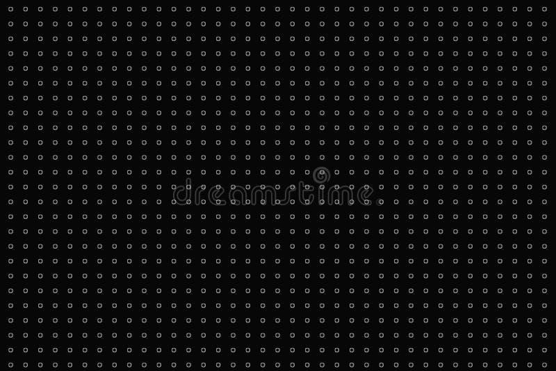 Digital id?rik abstrakt texturmodell f?r prickar p? svart bakgrund vektor f?r bild f?r designelementillustration arkivfoto