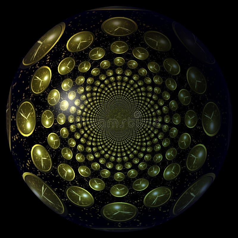 Digital illustration av overkliga klockor vektor illustrationer