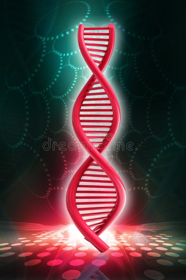 3d rendered dna  isolated on color background. Digital illustration of 3d rendered dna  isolated on color background vector illustration