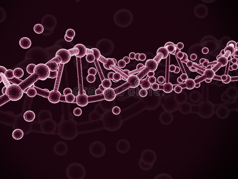 3d rendered dna  isolated on color background. Digital illustration of 3d rendered dna  isolated on color  background stock illustration