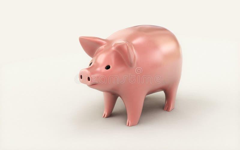 3d rendered Piggy bank isolated on white background. Digital illustration of 3d rendered Piggy bank isolated on white background vector illustration