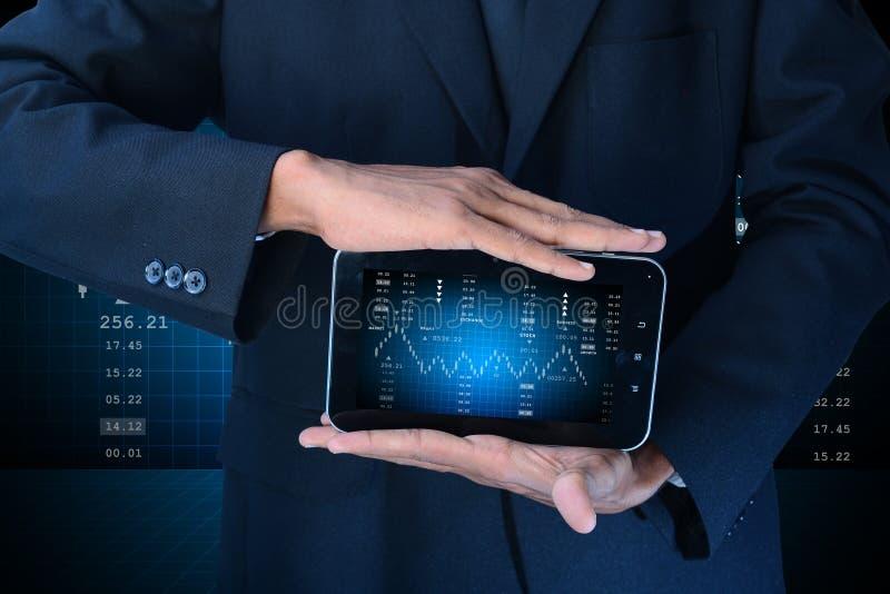 Digital-Illustration der futuristischen Notenbildschirmanzeige lizenzfreies stockbild