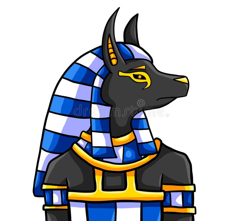 The Egyptian God Anubis royalty free illustration