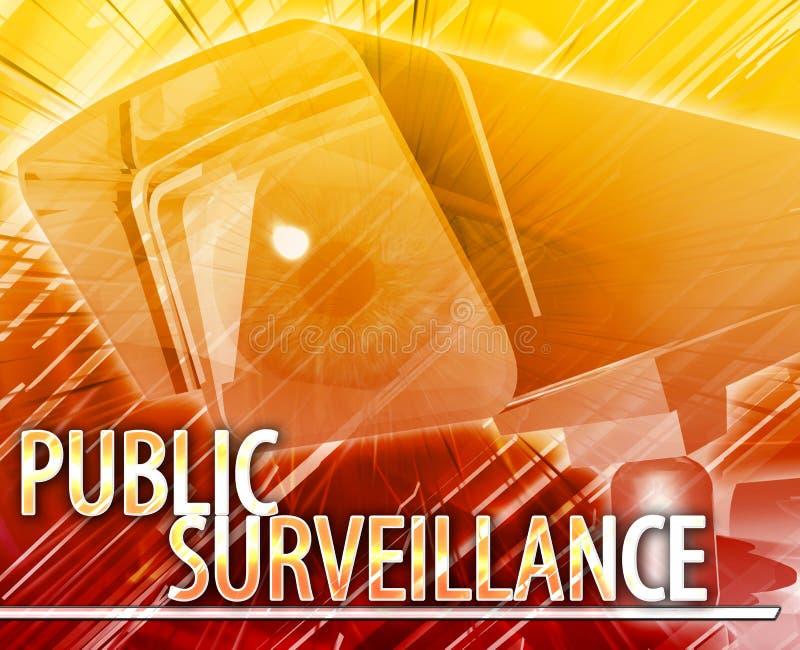 Digital illustration för offentligt bevakningabstrakt begreppbegrepp vektor illustrationer