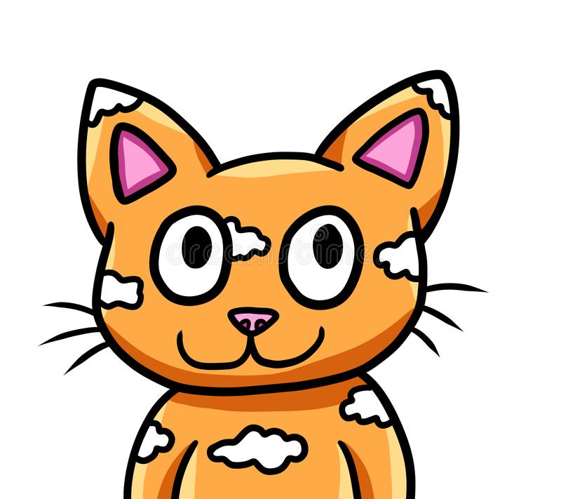 Adorable Orange Fantasy Cloud Cat vector illustration