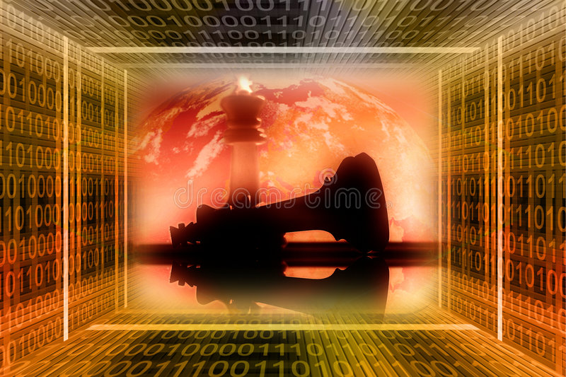 Digital, industrial war concep stock image