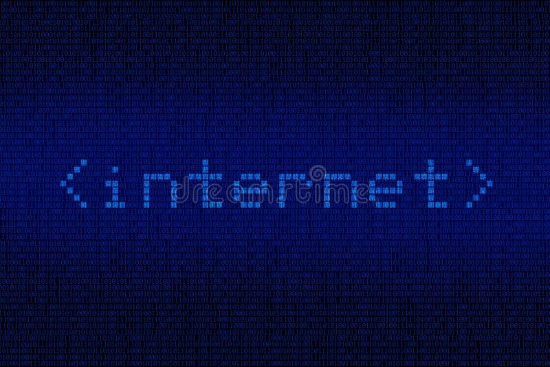 Digital Internet Background royalty free illustration