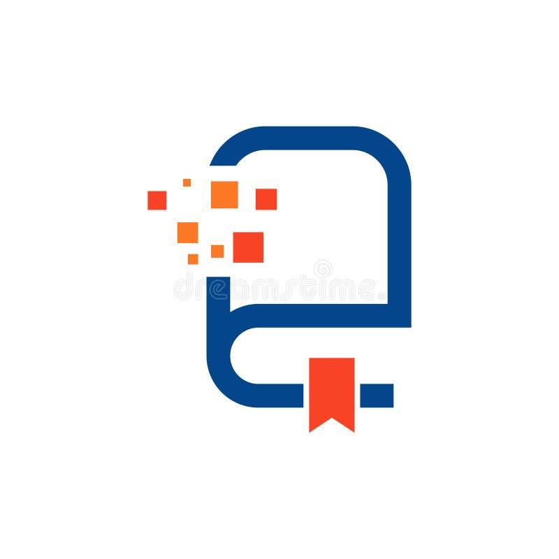 Digital-Internet-Buch-Website-Informationen Logo Symbol lizenzfreie abbildung