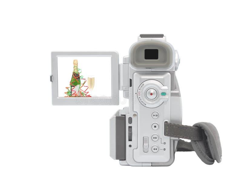 Digital-Kamerarecorder getrennt auf weißem Hintergrund. stockfoto