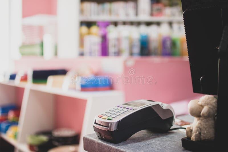 Digital-Kartenleser und NFC-Anschluss für kontaktlose Berechnung technologie lizenzfreie stockbilder
