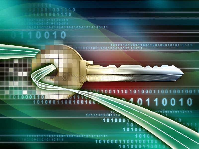 Download Digital key stock illustration. Image of flow, password - 12795047