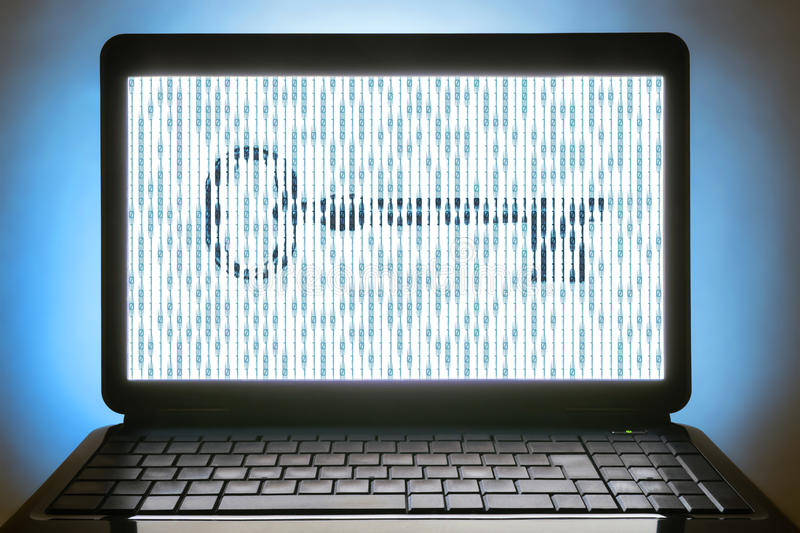 Download Digital key stock photo. Image of connected, encoding - 33280820