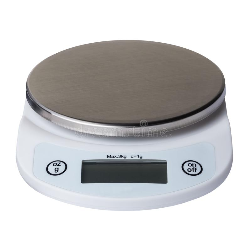 Digital kitchen scales royalty free stock photos