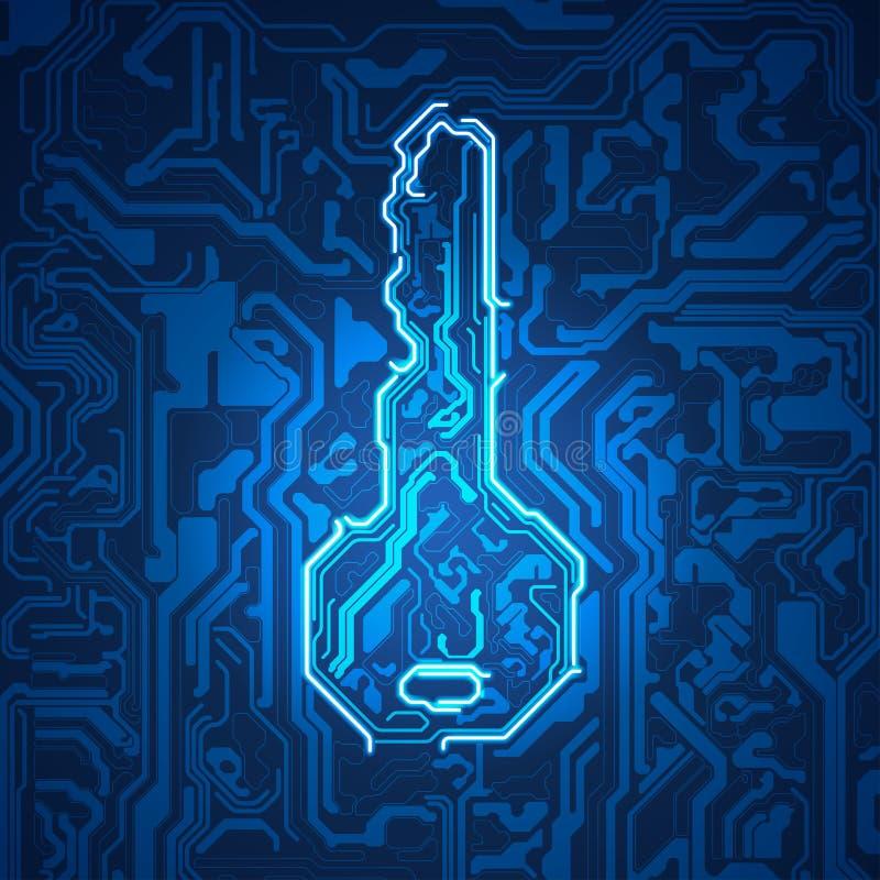 Digital klucz royalty ilustracja