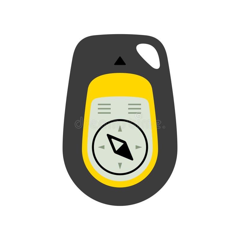 Digital kompass med gps-färgversion royaltyfri illustrationer