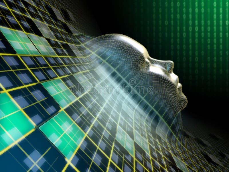 Digital-Kopf lizenzfreie abbildung