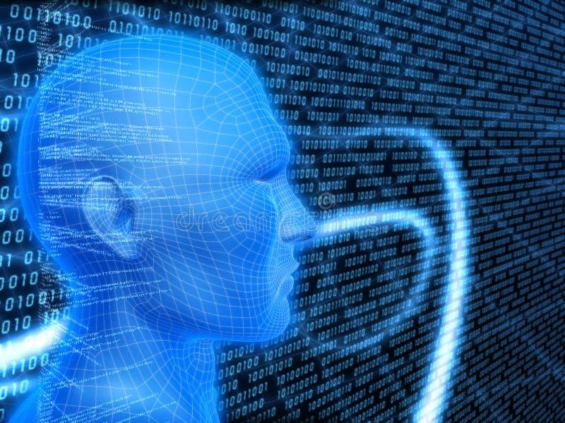 Digital-Kopf vektor abbildung