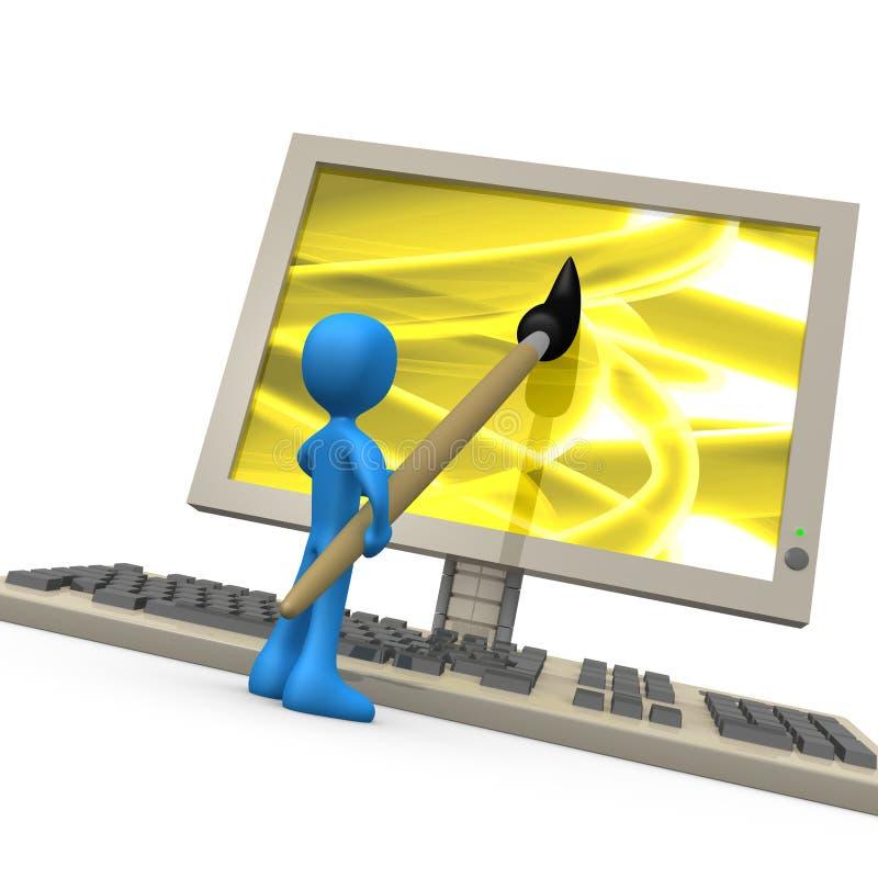 Digital-Kreativität lizenzfreie abbildung