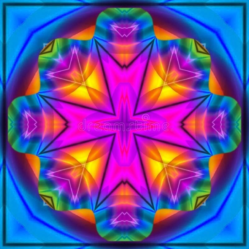 Digital-Kunst mit hellen Farben Sch?ne Tapeten-Auslegung stock abbildung