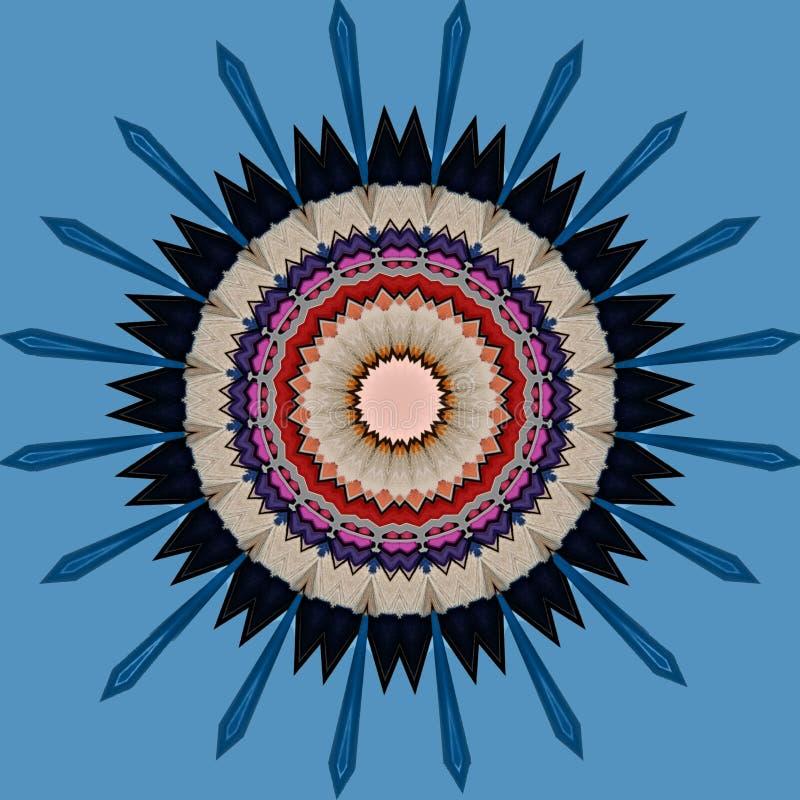Digital-Kunstdesign gemacht von farbigen Bleistiften stock abbildung