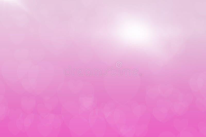 Digital-Kunstillustratorhintergrund abstraktes Farbhintergrund Herz bokeh Hintergrundideen für Ihre Entwurfsfahnen, Buch, Website stockfoto