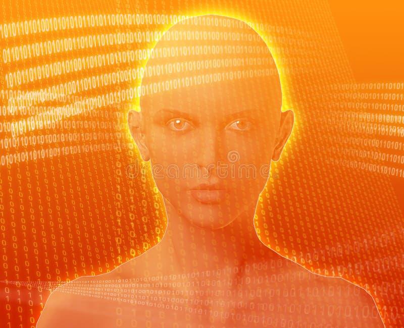 digital kvinna vektor illustrationer