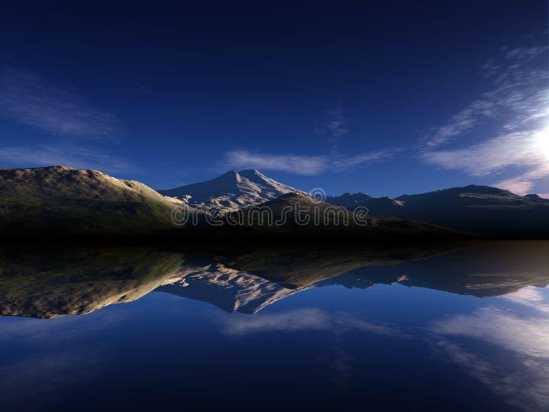 Digital landscape stock image