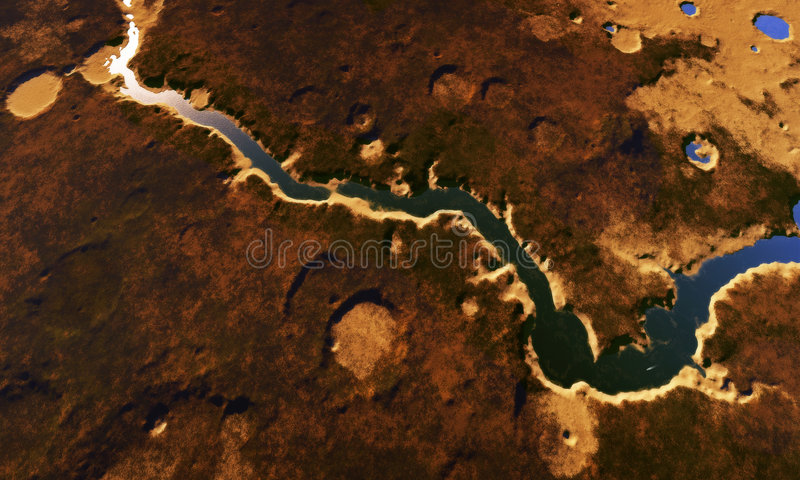 Digital-Landschaft vektor abbildung