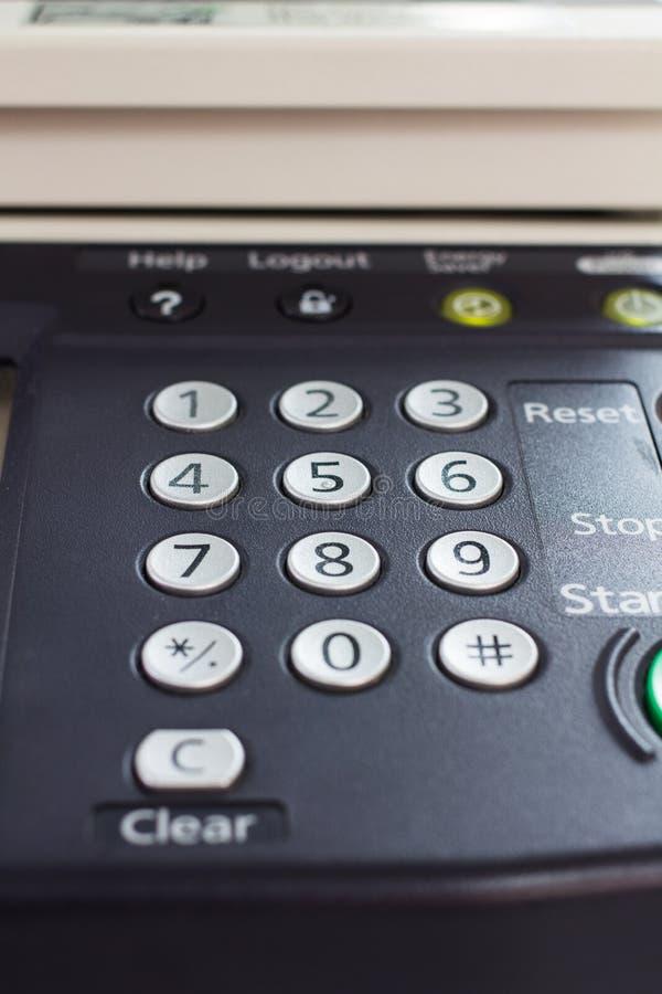Digital laser copier desktop user interface. Photo of Digital laser copier desktop user interface stock photography