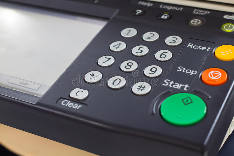 Digital laser copier desktop user interface. Photo of Digital laser copier desktop user interface stock images