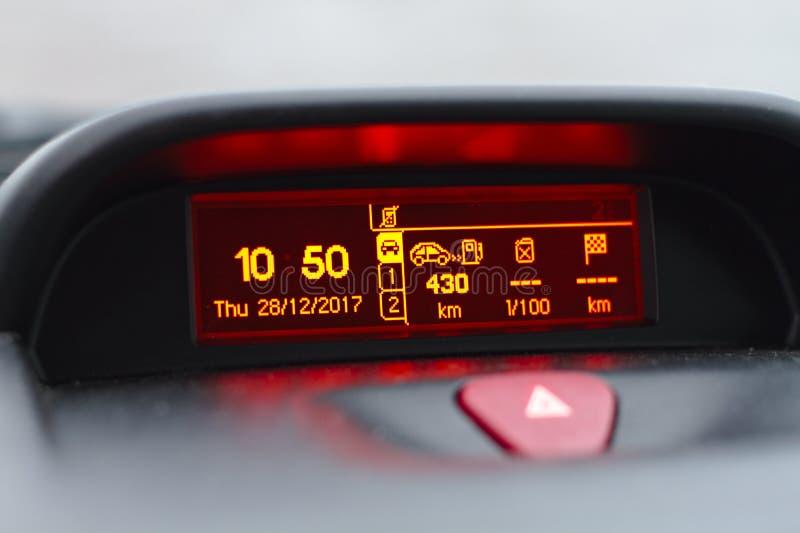 Digital lcd ekran samochód fotografia stock