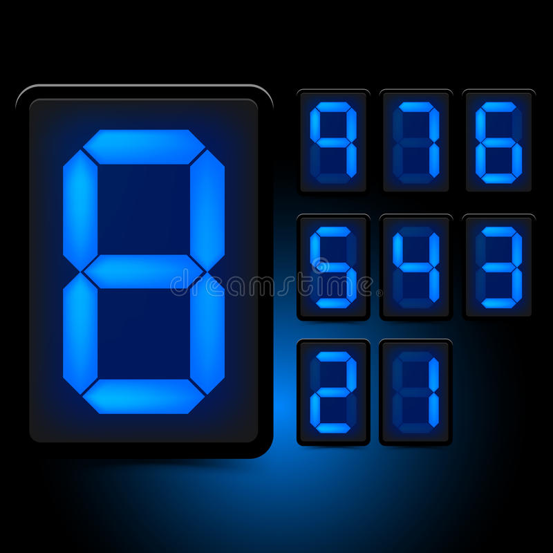 Download Digital LED Numbers stock vector. Image of display, digits - 26272794