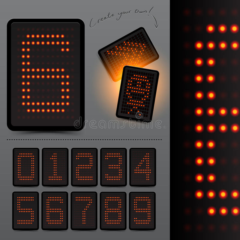 Download Digital LED Scoreboard Numbers Stock Vector - Illustration of score, board: 19206292