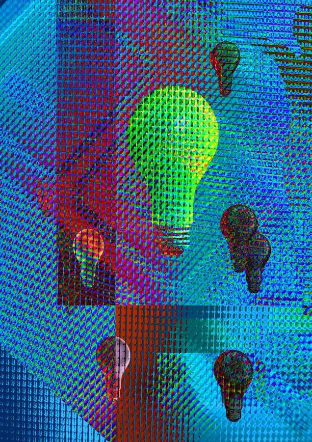 Digital-Leuchte stock abbildung